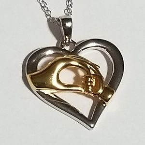 Jewelry - Child Holding Moms Hand in Heart Necklace